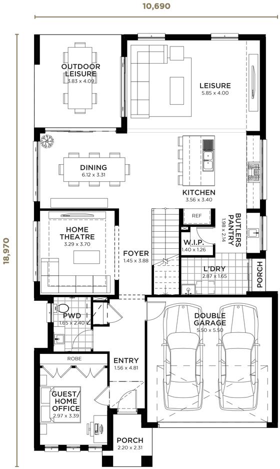 Ambassador Double Storey Home Design Wisdom Homes