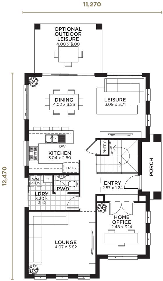 Keystone Double Storey Home Design | Wisdom Homes